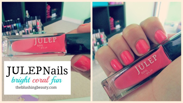 Julep Nails: Bright, coral and fun | The Blushing Beauty