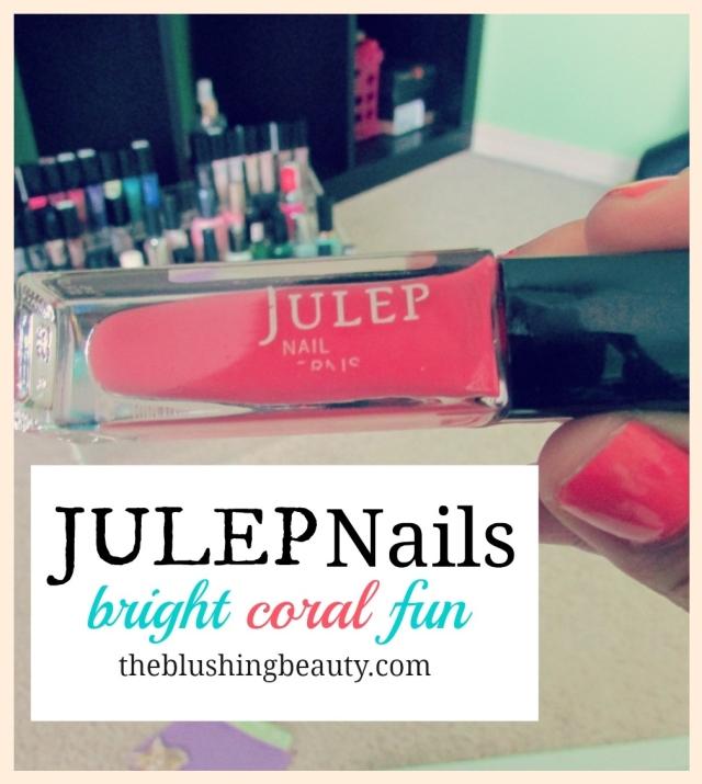 Julep Nails: Bright, coral and fun | The Blushing Beauty