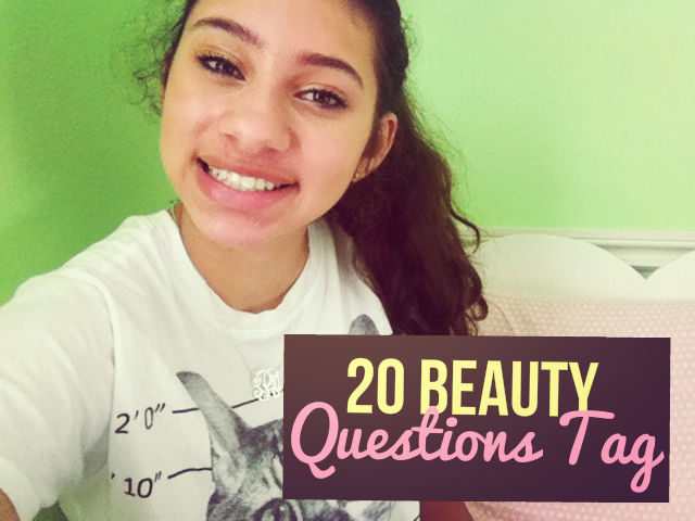 20 Beauty Questions Tag | The Blushing Beauty