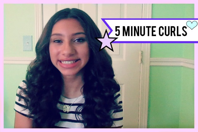5 Minute Curls | The Blushing Beauty